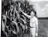 Dean Bell with corn stalks