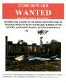 Allen-White School: poster regarding arson