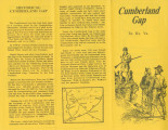 Cumberland Gap: brochure about the history of the area