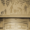 Aaron Douglas mural above the door, Cravath Hall