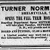 Turner Normal School ad