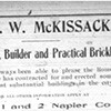 Ad for George W. McKissack