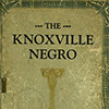 The Knoxville Negro, journal cover