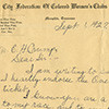 Letter from Mrs. T.S. Brown to Mayor Crump