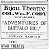 Theater advertisements in the Nashville Globe
