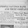 People's Savings Bank and Trust Company