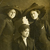 Sara Johnson Church, Annette Elaine Church, and, (seated), Mary Church Terrell in mourning following the death of Robert Reed Church, Sr.