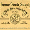 Tennessee Home Food Supply Program Certificate of Recognition, 1941