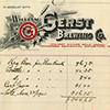 Gerst Brewing Co. receipt
