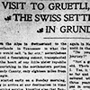 A visit to Gruetli, the Swiss settlement in Grundy County