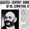 Quarter-century anniversary of Dr. Lewinthal celebrated