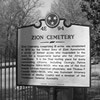 Zion Christian Cemetery Sign