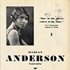 Marian Anderson, program for performance at the Ryman