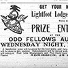 Advertisement, published in the Nashville Globe 30 April 1909, for an entertainment held by the Lightfoot Lodge No. 17 of the Knights of Pythias.