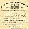 Certificate of Appointment, Governor W.G. Brownlow to J.C. Napier