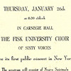 Carnegie Hall Invitation Card
