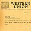 Telegram to Roland Hayes