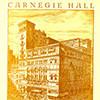 Carnegie Hall Program Cover