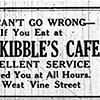 Kibbles Cafe Ad